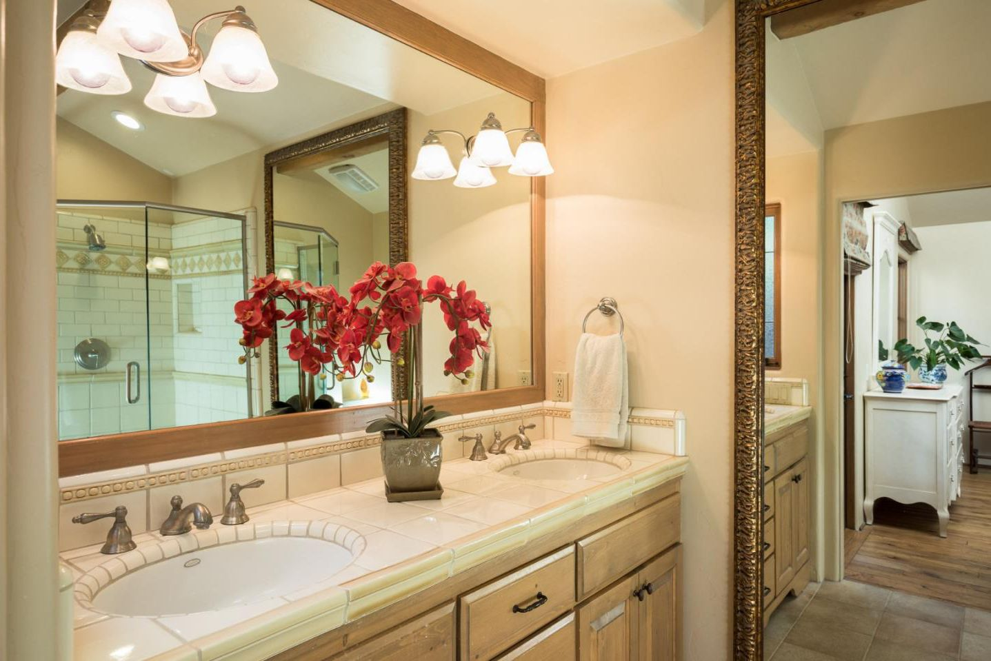 Classic Board and Batten Cottage in Carmel-by-the-Sea for sale -Master bath