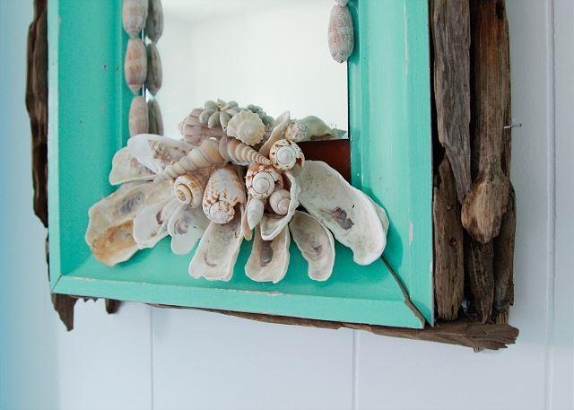 Coastal Joy Cottage Mermaid Cottages - Beach cottage shell mirror