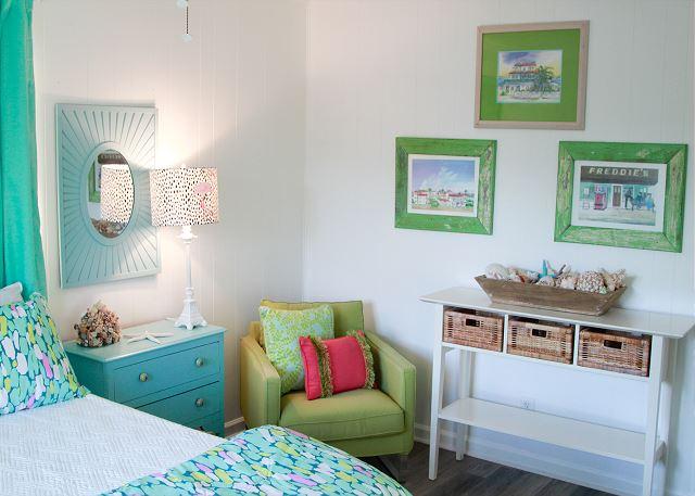 Coastal Joy Cottage Mermaid Cottages - Bedroom furniture and beach cottage artwork
