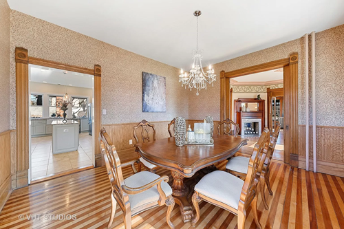 Circa 1890 Queen Anne home in Wheaton IL on the market has Zebra Flooring