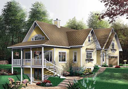 11 Cottage House Plans To Love- Cottage House plan with private guest suite