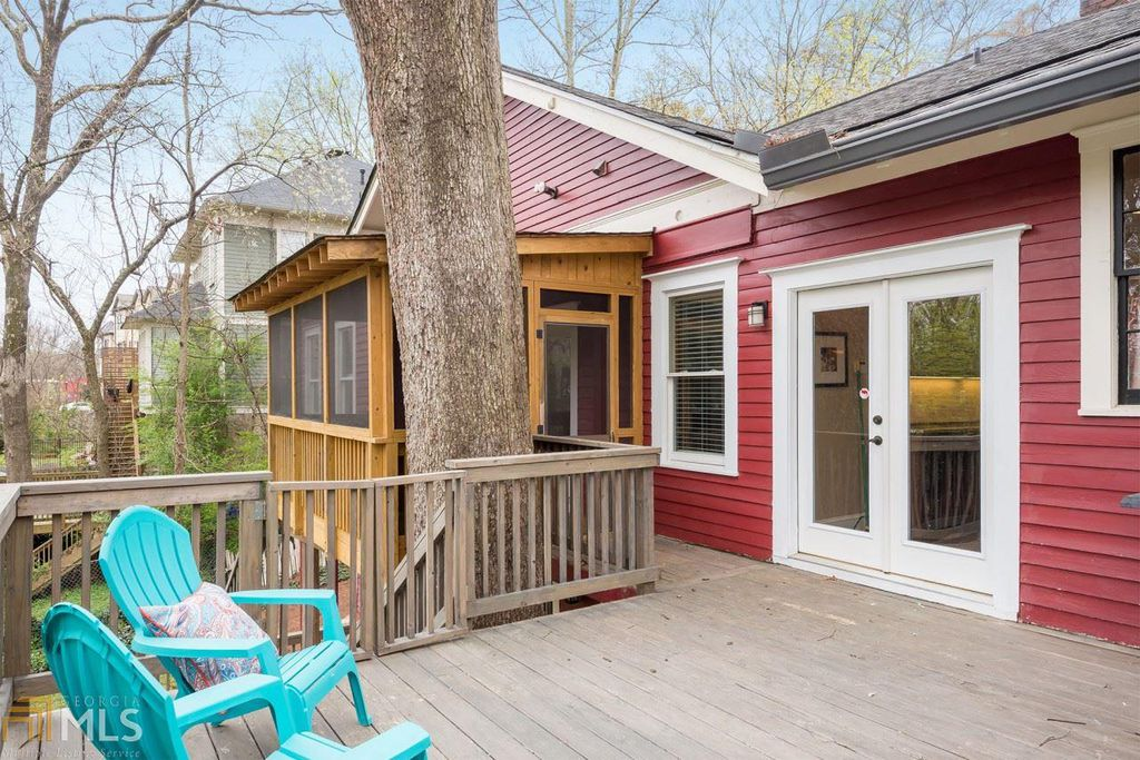 Craftsman Bungalow for sale in Atlanta GA is updated- upper deck