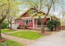 Craftsman Bungalow in Georgia for sale is totally updated and beautiful