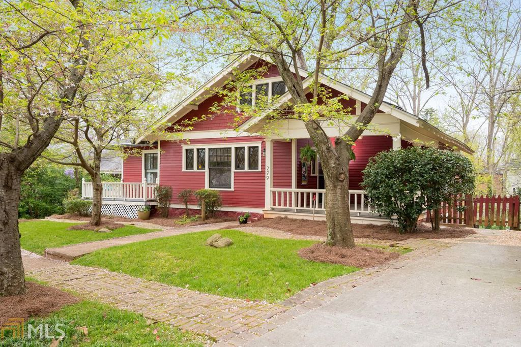 An updated craftsman bungalow for sale in georgia for Atlanta craftsman homes