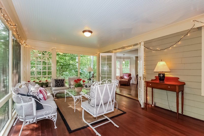 Craftsman Colonial for sale in CT has this awesome Sun Porch