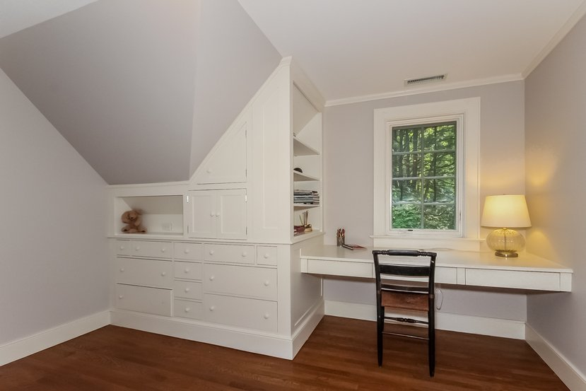 Craftsman Colonial in Connecticut for sale - Office has built in desk and shelves