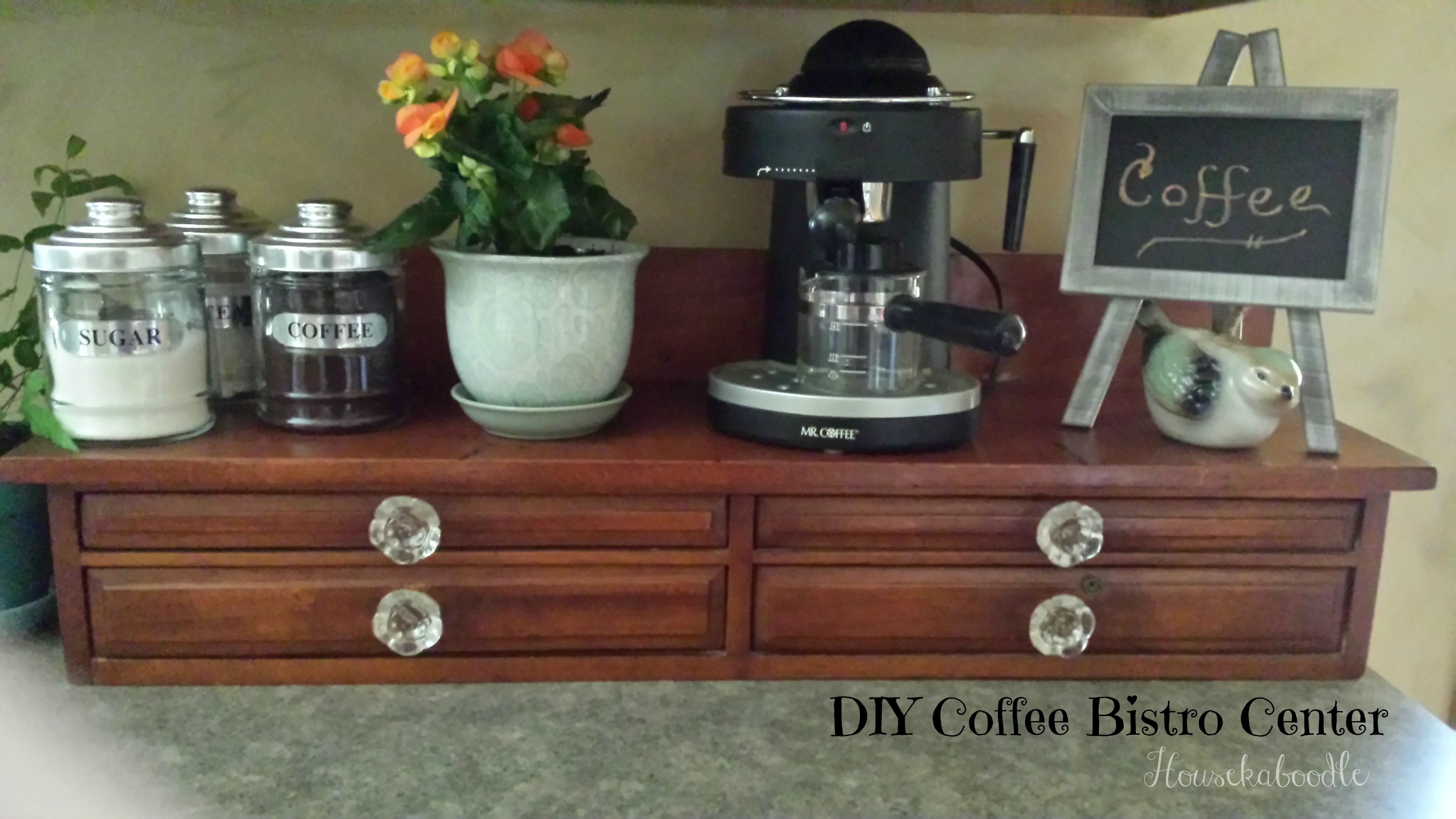 DIY Coffee Bistro Center - Housekaboodle