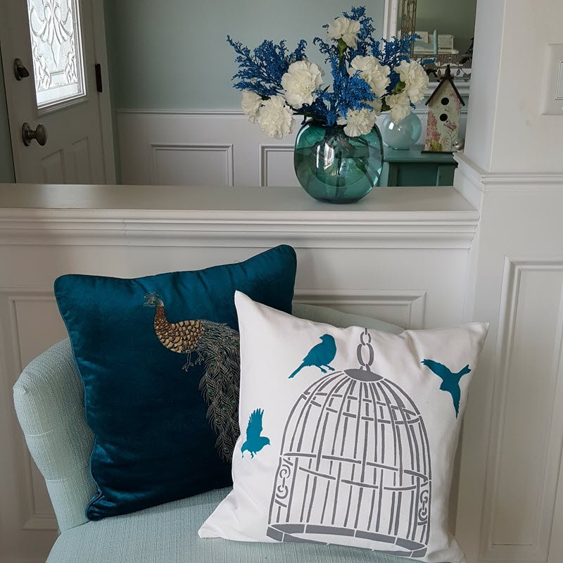 DIY Paint-a-Pillow Stencil - Housekaboodle