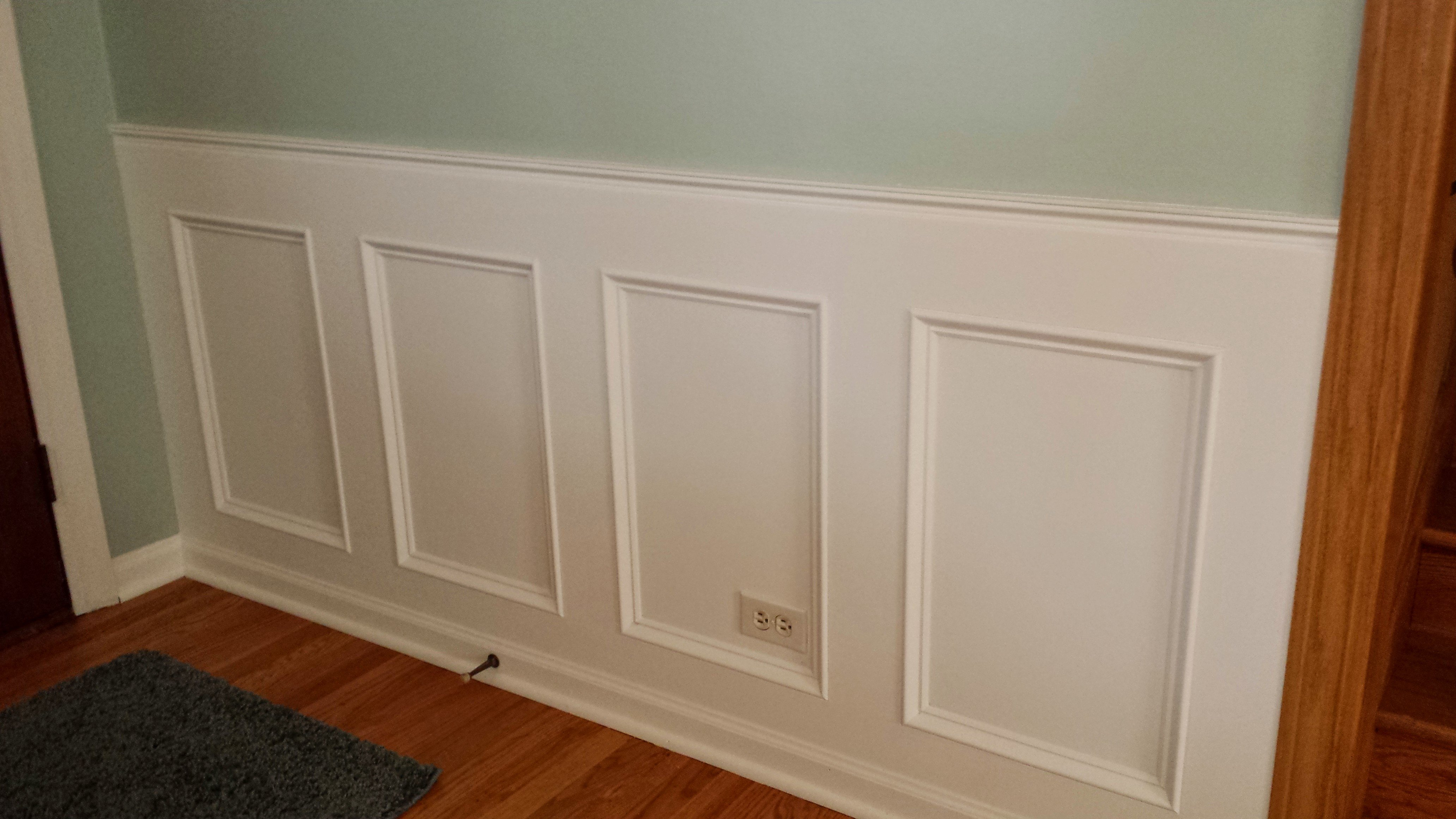 Diy interior window trim - How To Make A Recessed Wainscoting Wall From Scratch