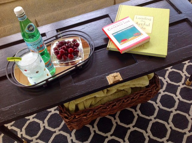 DIY cupboard coffee table