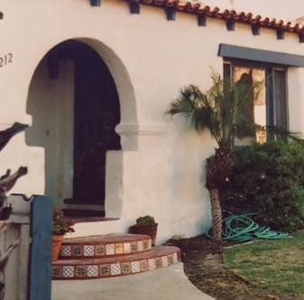 Decades Long Remodel of Beloved Spanish Style Charmer - Entrance before