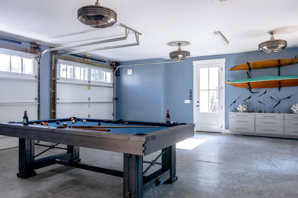 Detached Garage has area for entertaining HGTV Dream Home