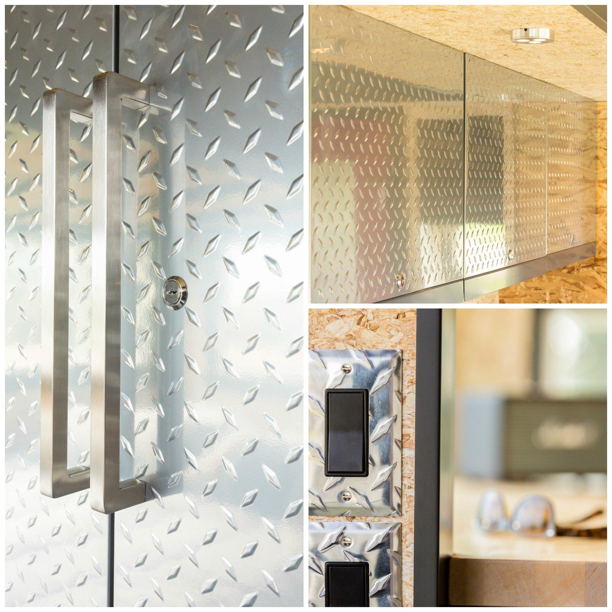 Diamond Plate Steel Storage, locking cabinets