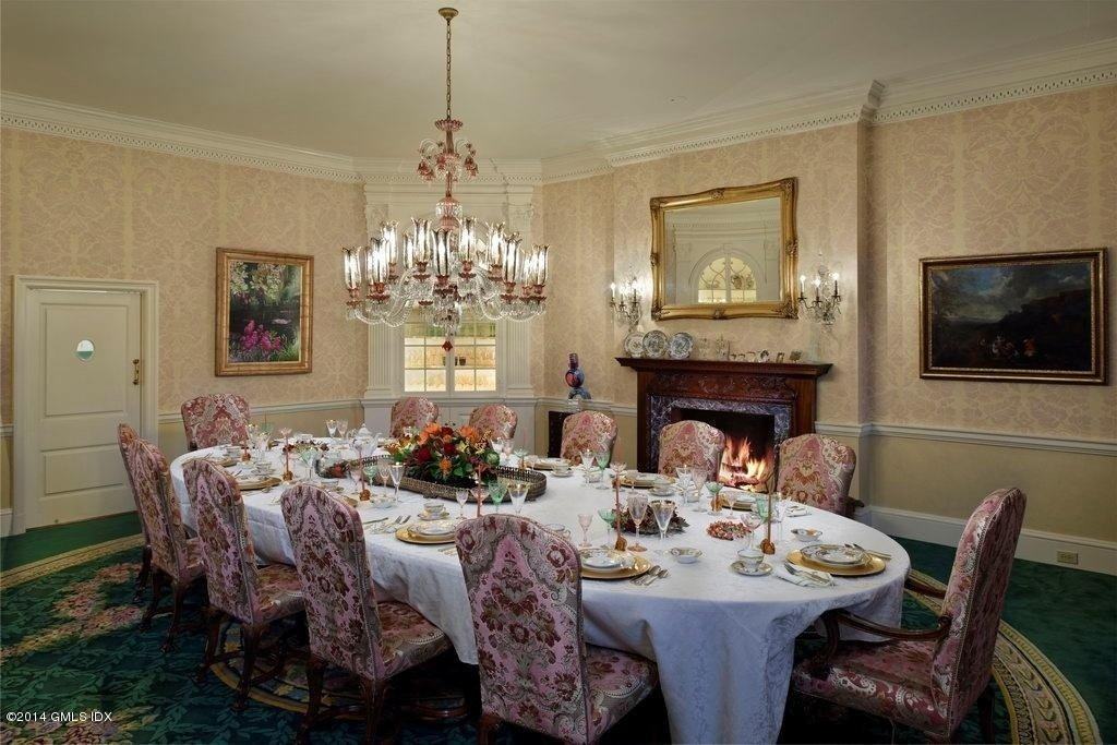 Donald Trump House Elegant Dining Room   Zillow Blog