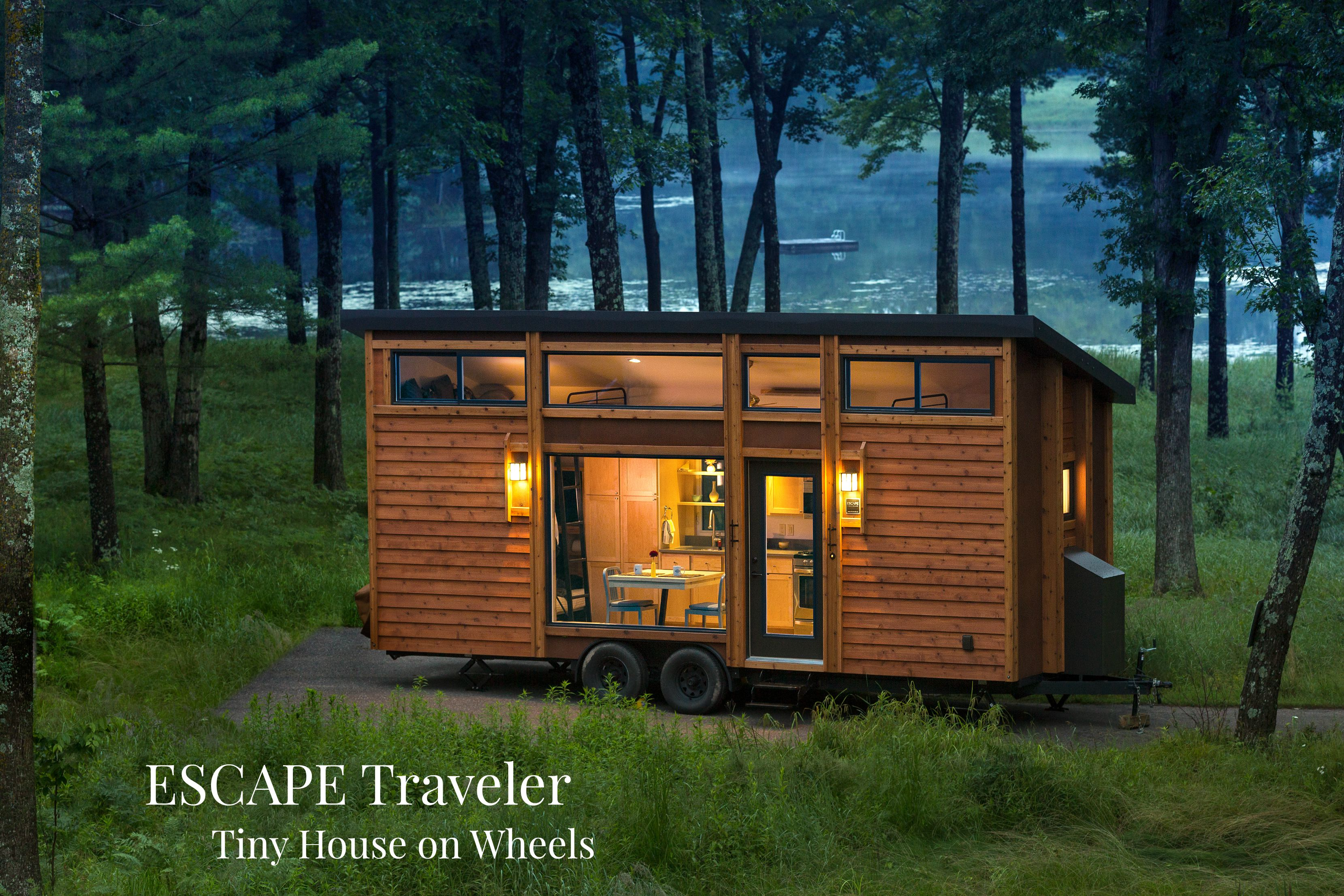 escape traveler the tiny house vacation wonder on wheels - House On Wheels