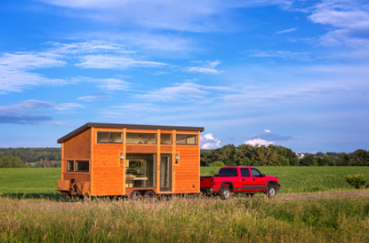 ESCAPE Traveler by Canoe Bay is a tiny house vacation wonder on wheels and can be transported with a standard pickup truck