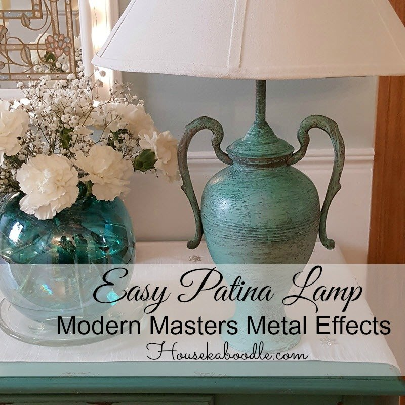 Easy Patina Lamp transformed with Modern Masters Metal Effects - Housekaboodle