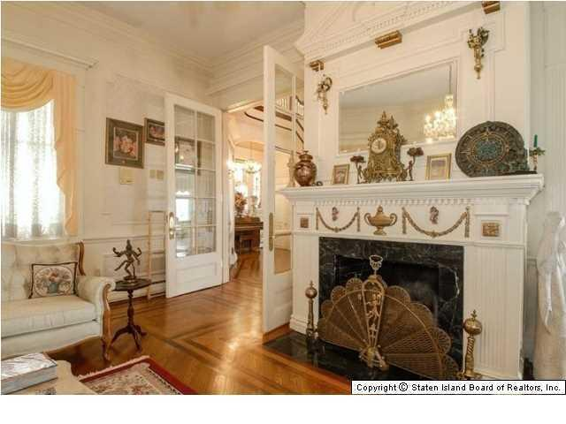 Elegant Victorian home one of three fireplaces - 269 Howard Ave Staten Island NY for sale