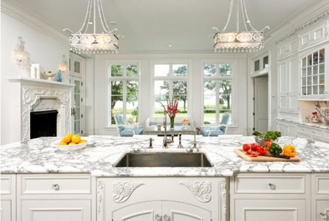 Elegant White Kitchen Cabinets Jennifer Lopez Robins Egg Blue