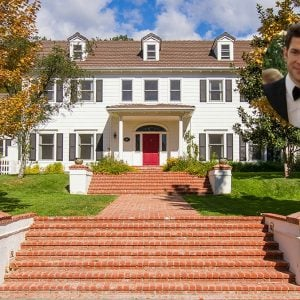 Emily Blunt and John Krasinski Colonial Home in Ojai CA