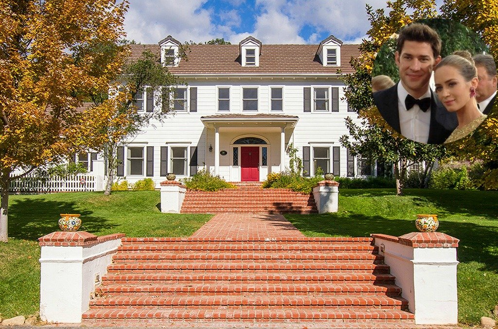 Emily Blunt and John Krasinski Colonial Home For Sale