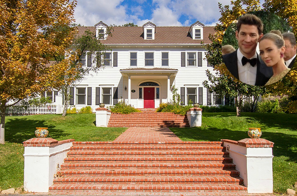 Emily Blunt and John Krasinski house for sale is a lovely Colonial