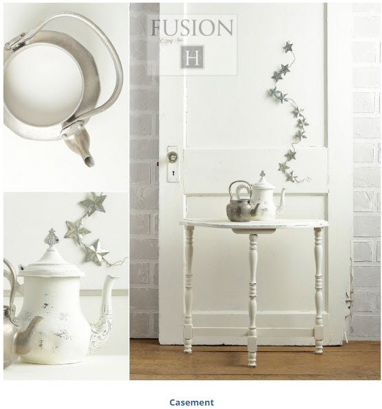 Fusion Mineral Paint - this is Casement White I picked to paint our piano - Housekaboodle