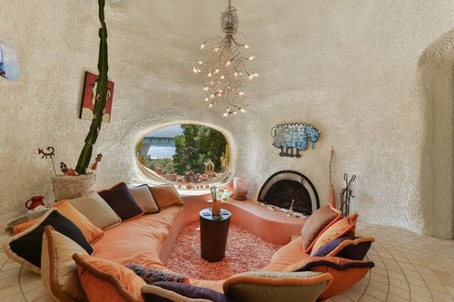 Flintstone House for sale in Hillsborough CA 45 Berryessa Way - Conversion Pit area - via curbed sf