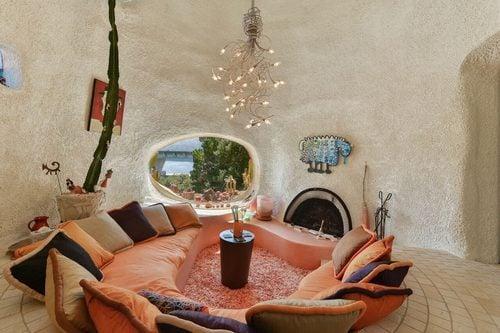 Flintstone House for sale in Hillsborough CA 45 Berryessa Way - Conversion Pit area - via curbed sf