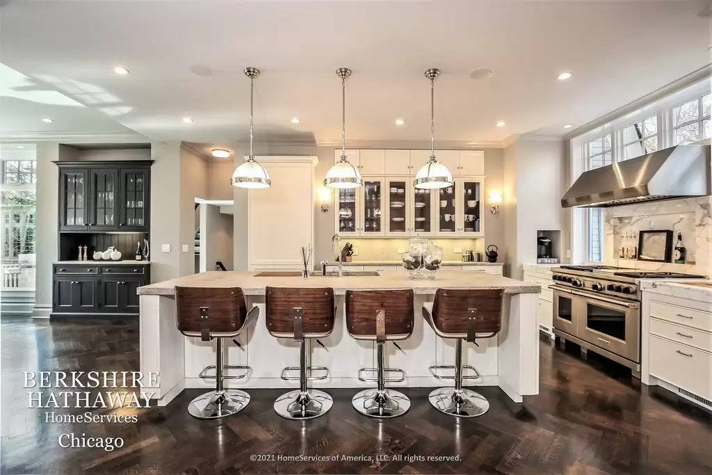 Kitchen in amazing Queen Anne house for sale Highland Park, IL