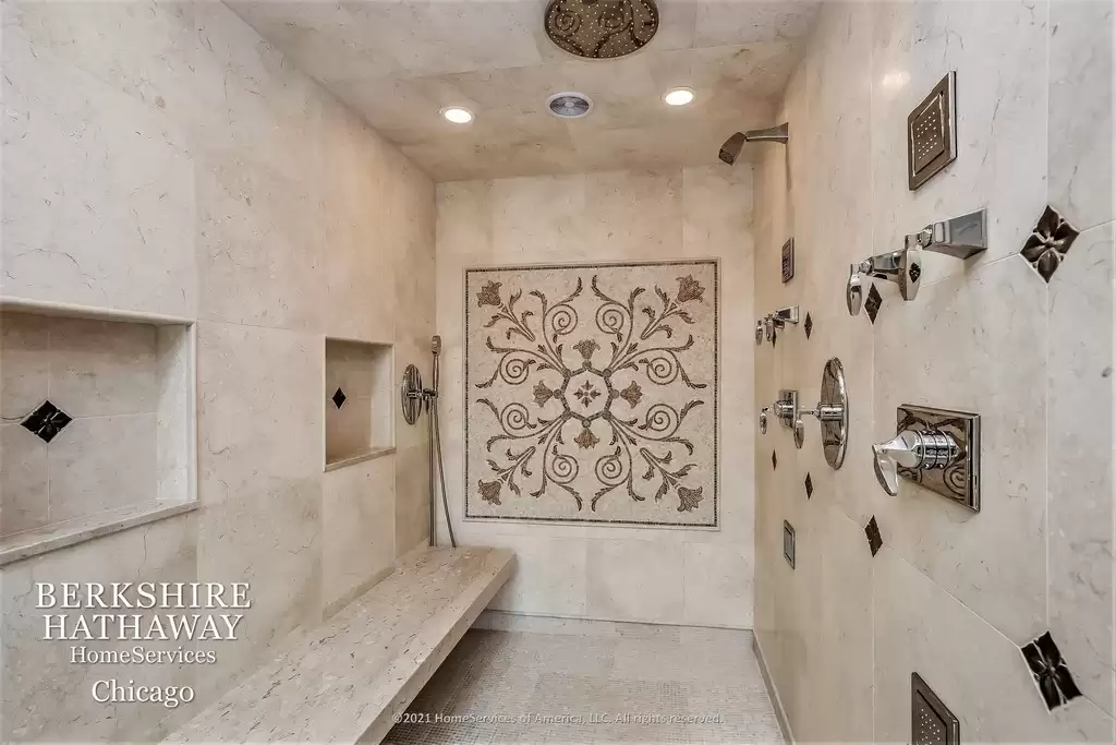 Luxury bathroom in home for sale Highland Park IL