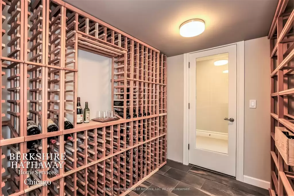 Wine Room - Stunning Queen Anne in Highland Park IL for sale.