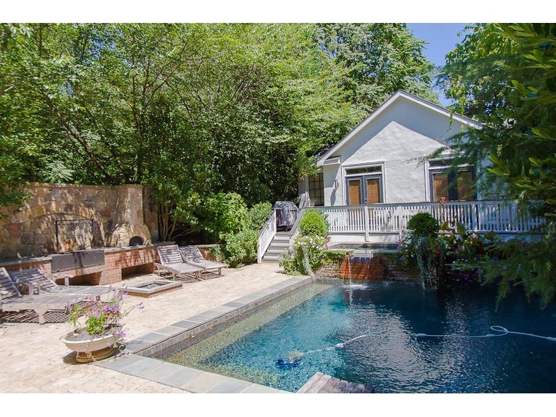 Atlanta Georgia Home Has A Wonderful Backyard Oasis Besides The Pool