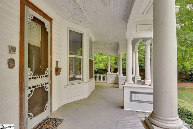 Front Porch Southern Living with The Sitgreaves House in Laurens South Carolina is for sale