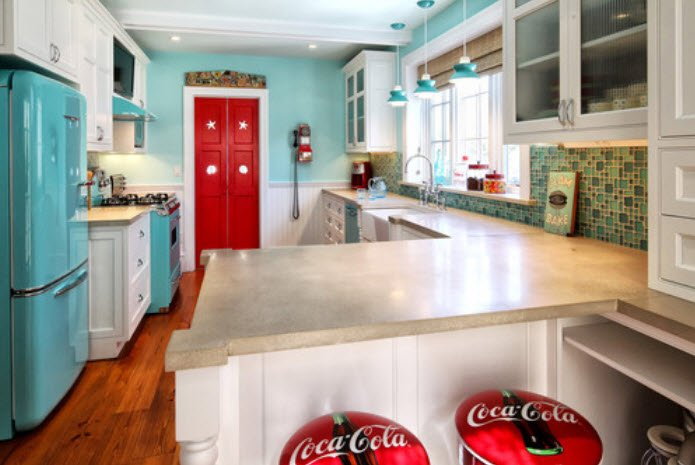 Fun Retro Kitchens - Houzz by New York Architect Knight Architects LLC