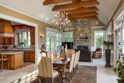Gibralter Equestrian Estate in Anacortes, Washington - Dining Room