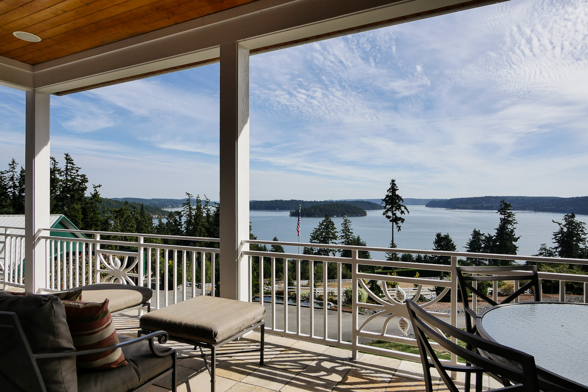 Gibralter Equestrian Estate in Anacortes, Washington - terrace views