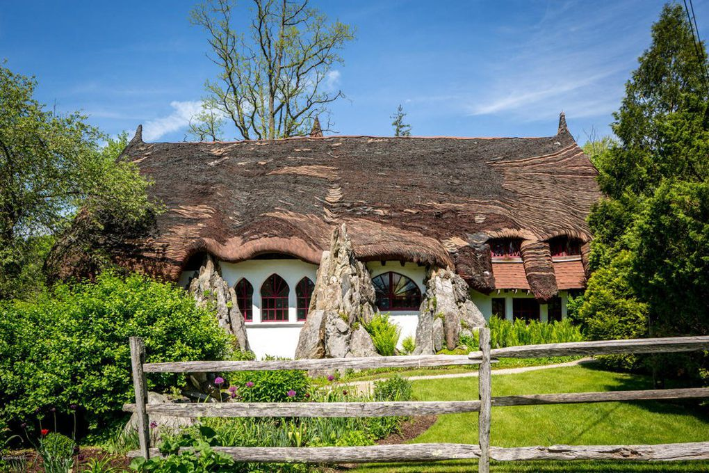 Gingerbread House Estate in MA for sale has four fairy tale homes
