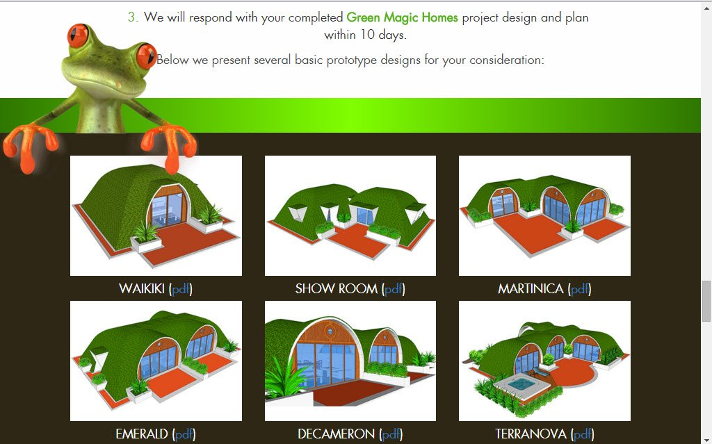 Green Magic Home basic prototype designs