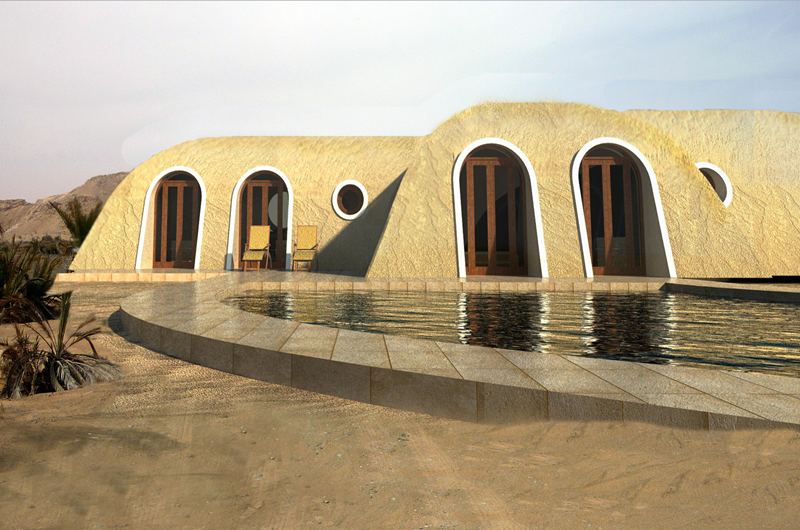 Green architecure living by Green Magic Homes has technology for desert living