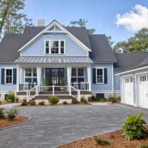 HGTV-Dream-Home-2020-in-Hilton-Head-South-Carolina-is-a-charming-blue-house-with-navy-blue-shutters
