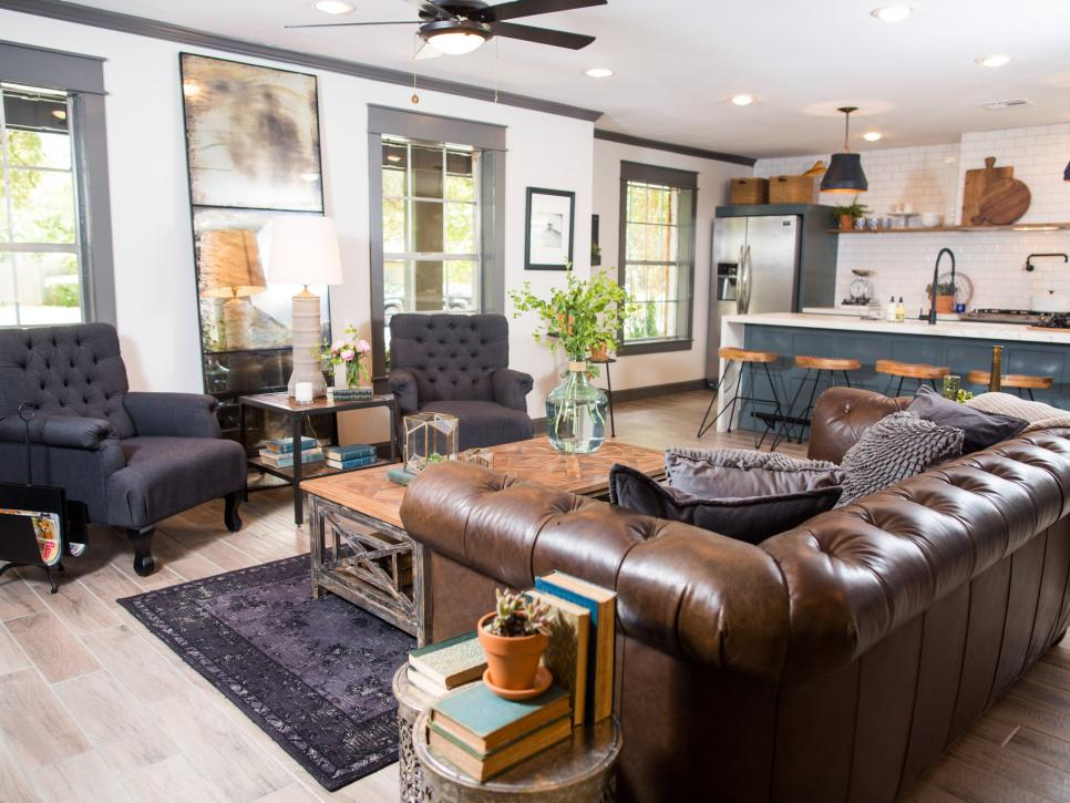 HGTV Fixer Upper Brick House In Waco Texas Living Room After