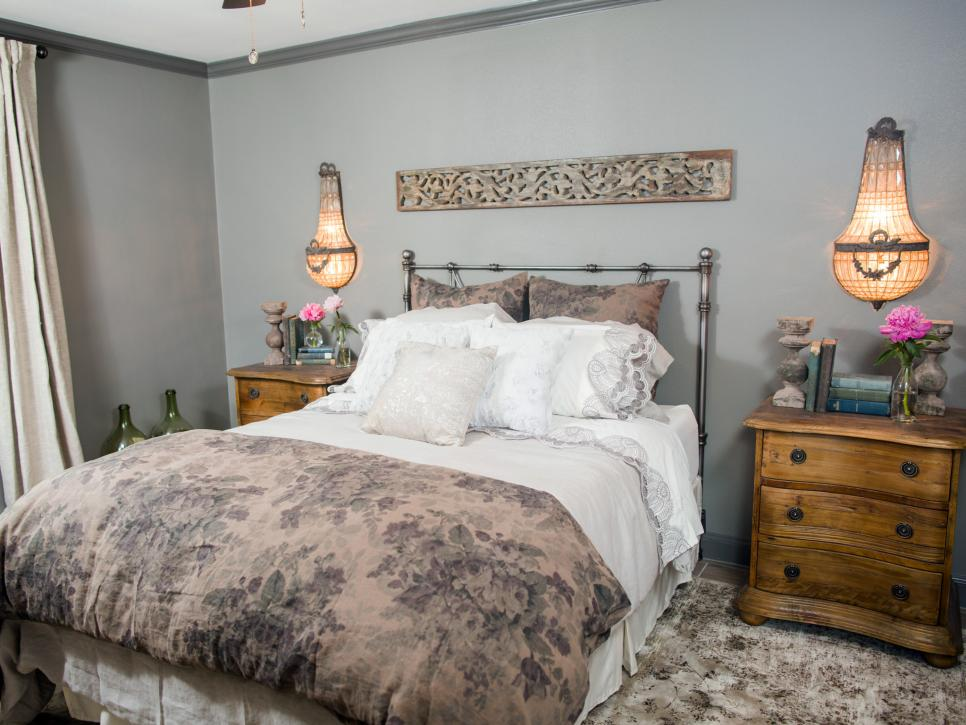 HGTV Fixer Upper Brick House in Waco Texas Romantic Bedroom after