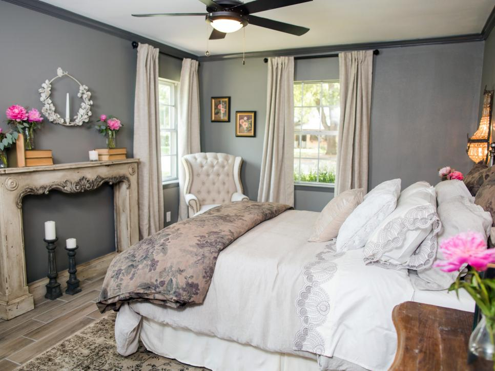 HGTV Fixer Upper Brick House in Waco Texas Romantic Bedroom after2