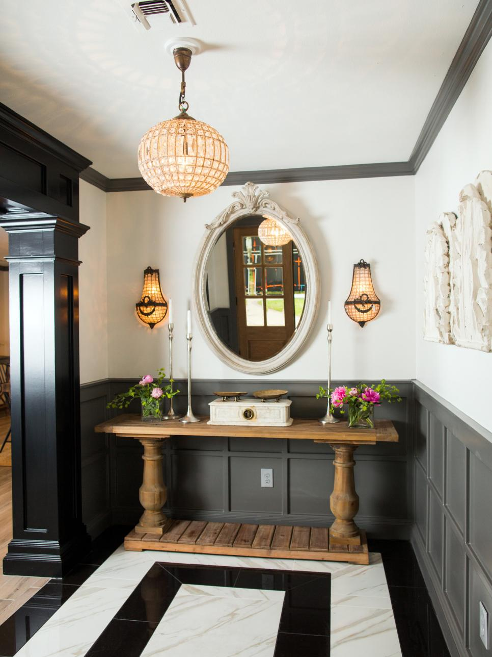 Difference Between Foyer And Entry : Hgtv fixer upper brick house is old world charm for newlyweds