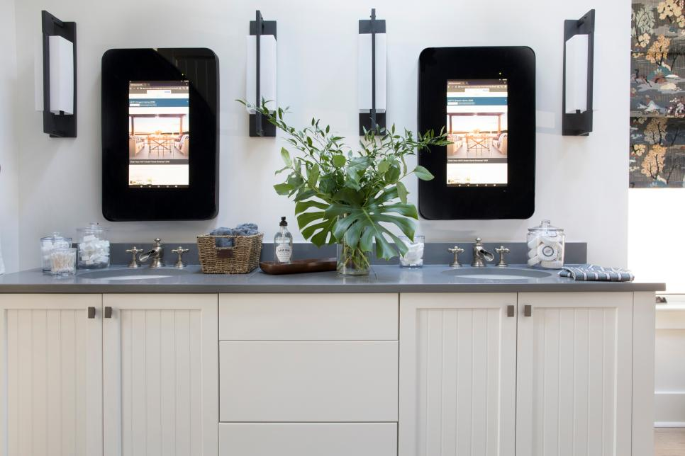 HGTV Smart Home 2018- Master Bath double vanity