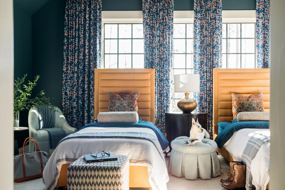 HGTV Smart Home 2018- Teen Bedroom with bold rich colors and textures