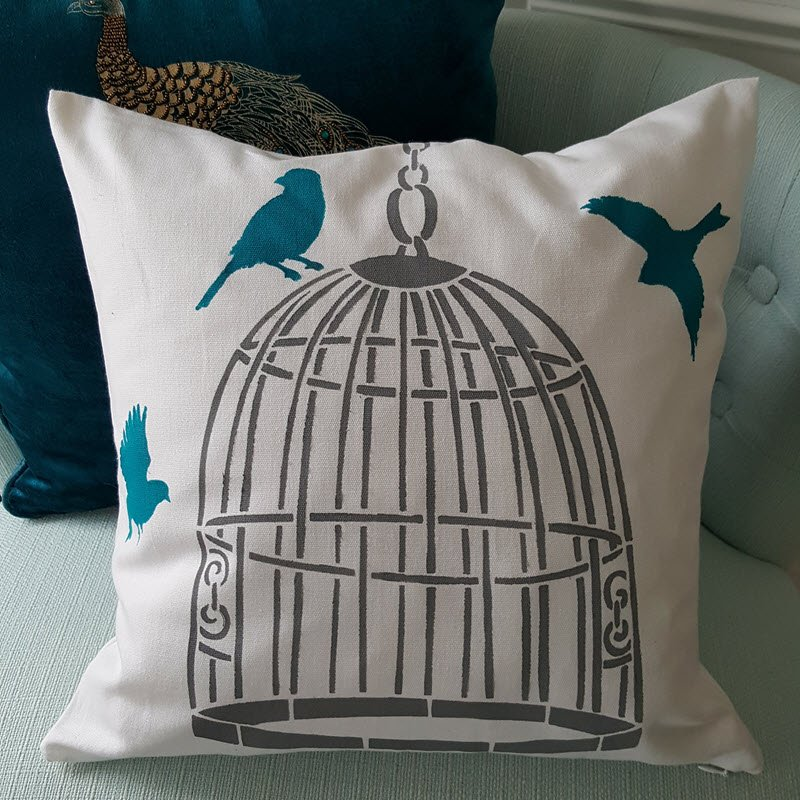 How To Stencil a Pillow to Perfectly Match Your Home Decor