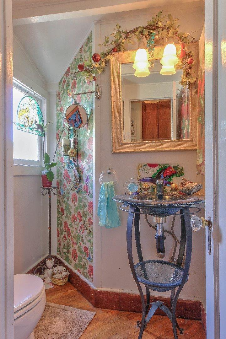Charming half bath - Carmel fairytale cottage for sale