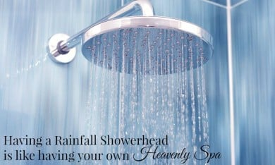 This Rainfall Showerhead is a Heavenly Spa on the Wall